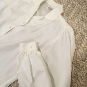 Vintage Bentley white blouse